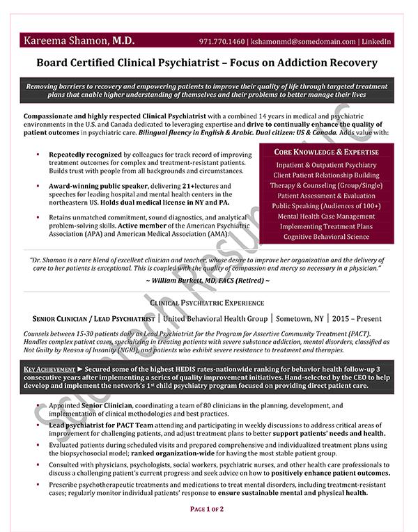 Non-Executive Manager Samples – Scientech Resumes LLC