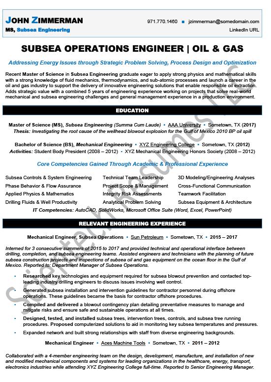 New Graduate/Entry-Level – Scientech Resumes LLC