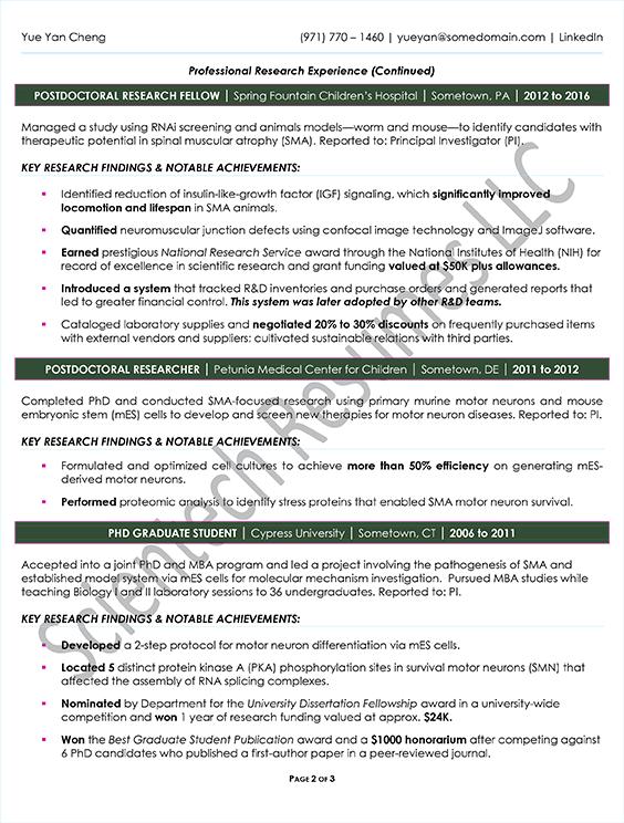 International Professional Samples - Scientech Resumes LLC