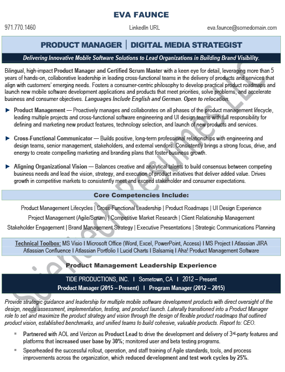Young Professional – Scientech Resumes LLC